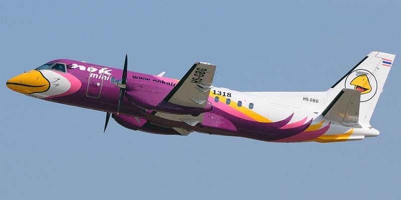 Самолет Saab 340B+ авиакомпании Nok Mini