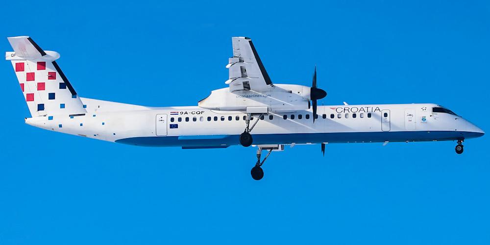 Bombardier Dash 8 Q400 авиакомпании Croatia Airlines