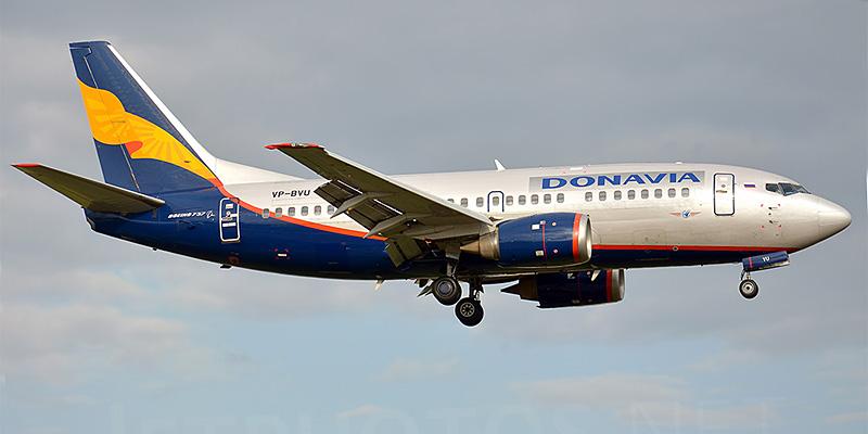 Самолет Боинг-737-500 авиакомпании Донавиа