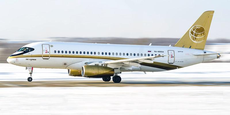 Самолет Сухой Суперджет-100 авиакомпании Центр-Юг
