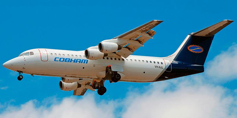 Самолет BAe-146-300 авиакомпании Cobham