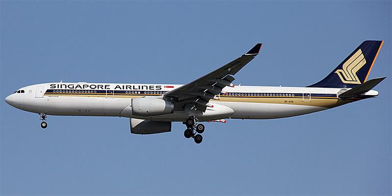 Самолет Airbus A330-300 авиакомпании Singapore Airlines