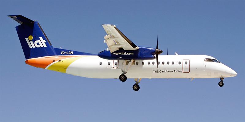 Самолет Bombardier Dash 8Q-300 авиакомпании LIAT