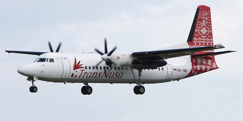 Самолет Fokker 50 авиакомпании TransNusa
