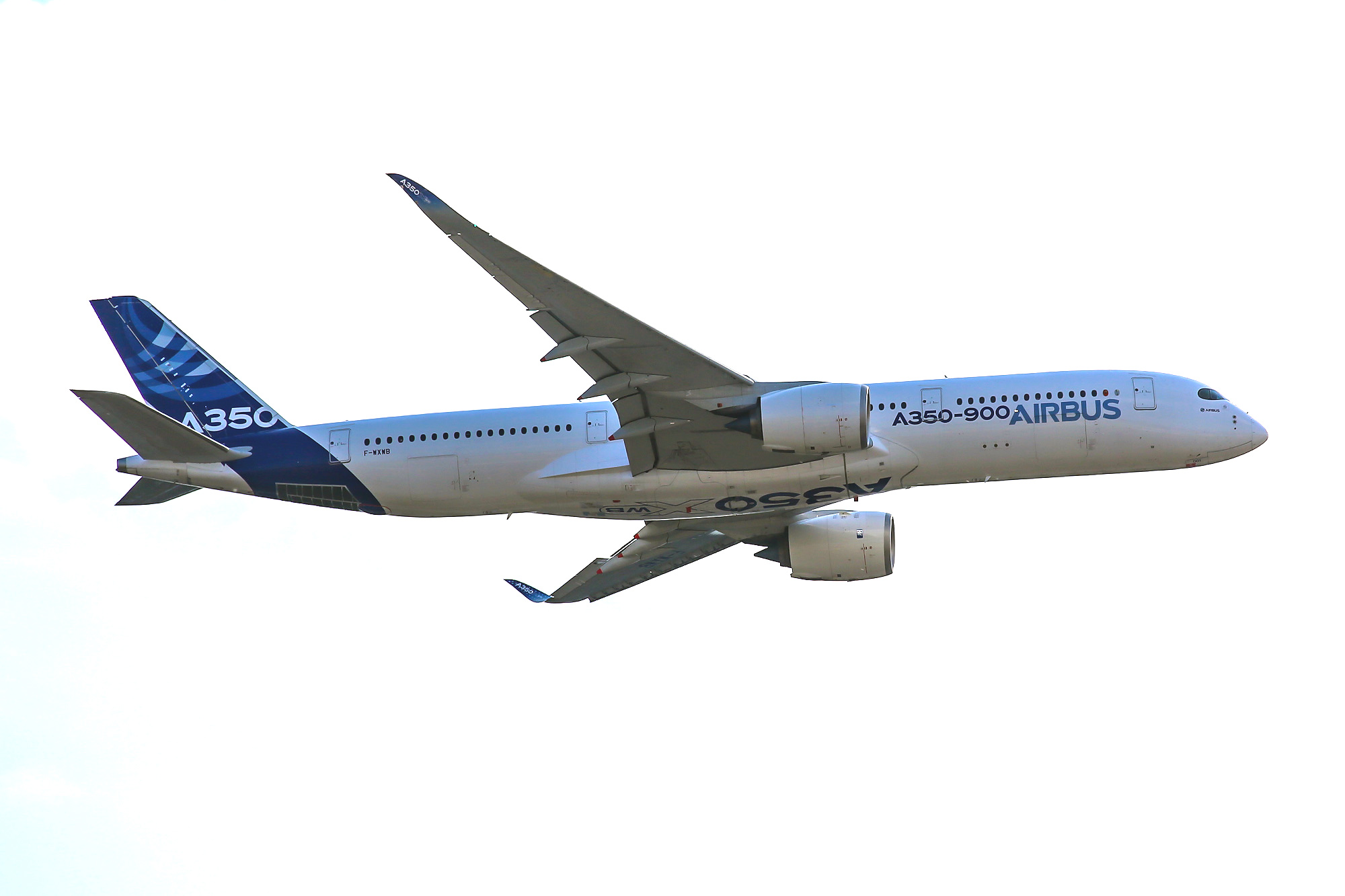 The Airbus A350XWB in-flight at MAKS-2015