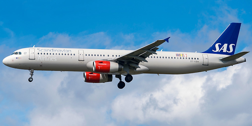 Airbus A321 авиакомпании SAS - Scandinavian Airlines
