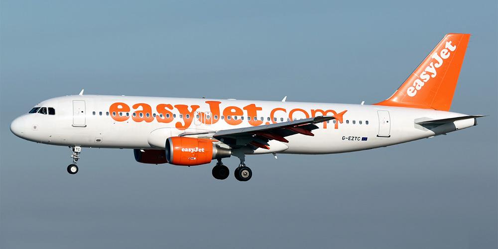 Airbus A320 авиакомпании EasyJet