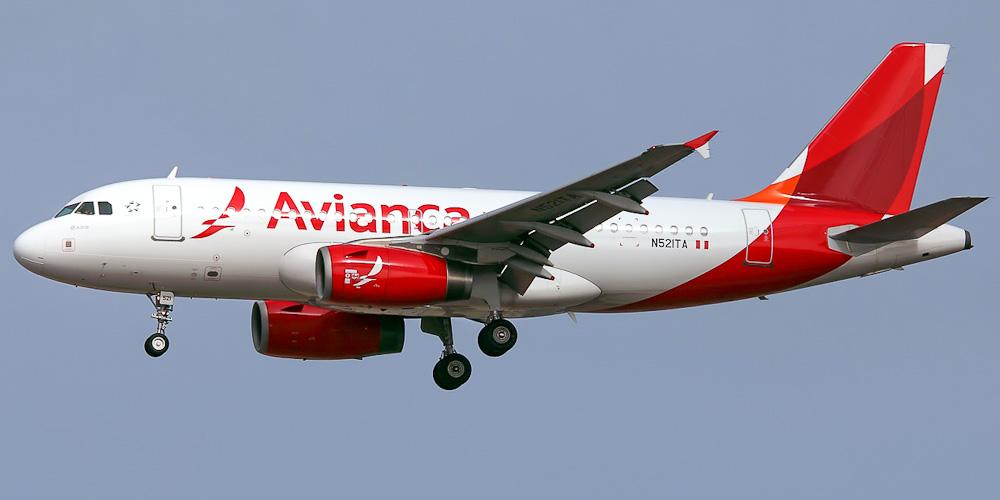 Самолет Airbus A319 авиакомпании Avianca Peru