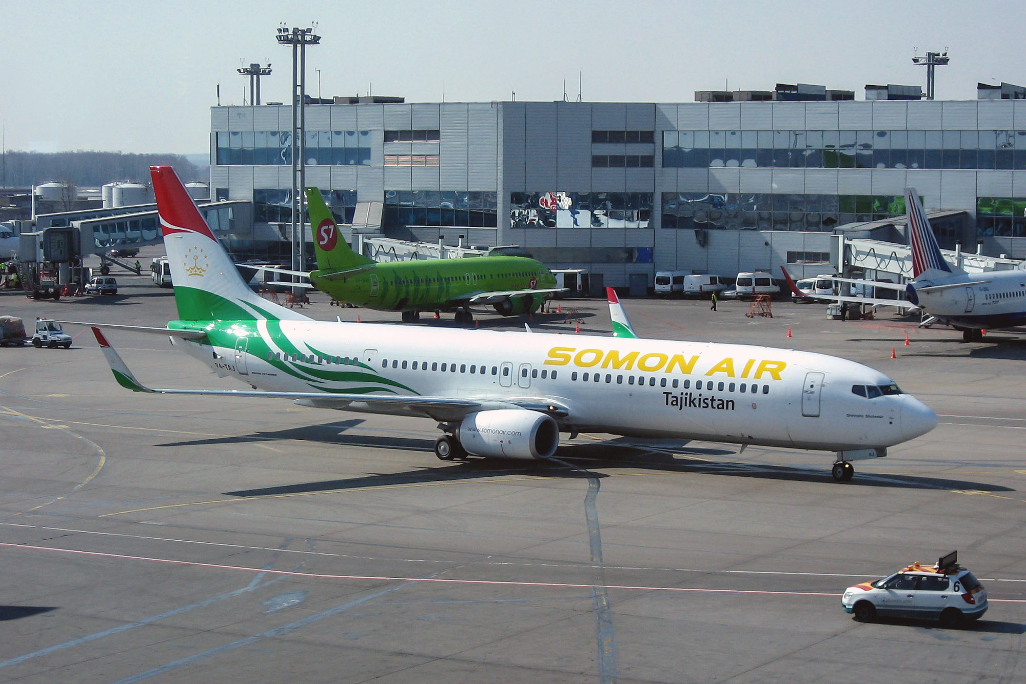 Boeing-737-800 airline Somon Air Domodedovo airport