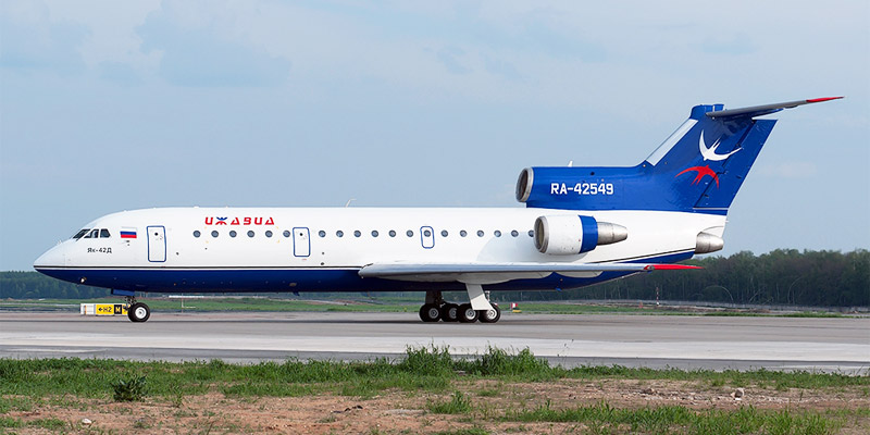 Самолет Як-42 авиакомпании Ижавиа