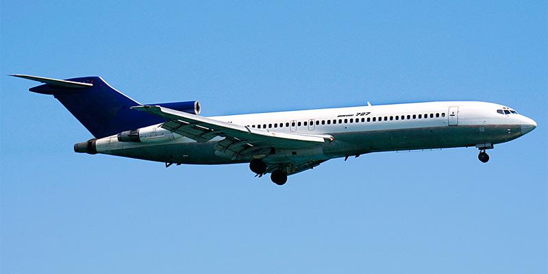 Самолет Боинг-727 авиакомпани MEGA