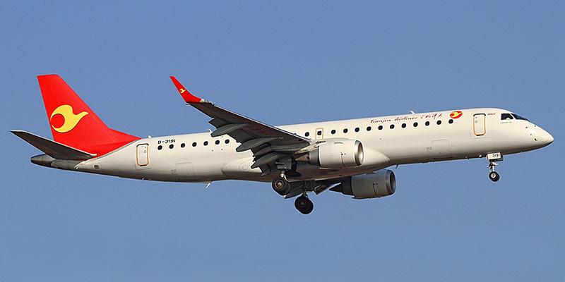 Embraer 190 авиакомпании Tianjin Airlines