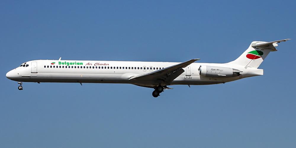 Самолет MD-80 авиакомпании Bulgarian Air Charter