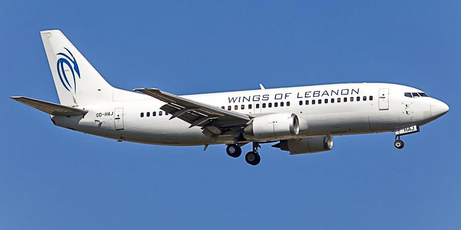 Самолет Боинг-737-300 авиакомпании Wings of Lebanon