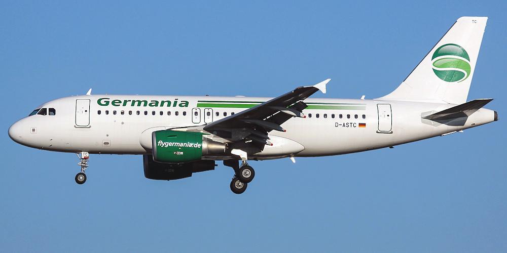 Airbus A319 авиакомпании Germania