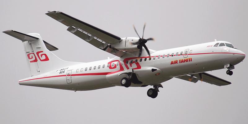 Самолет ATR 72 авиакомпании Air Tahiti