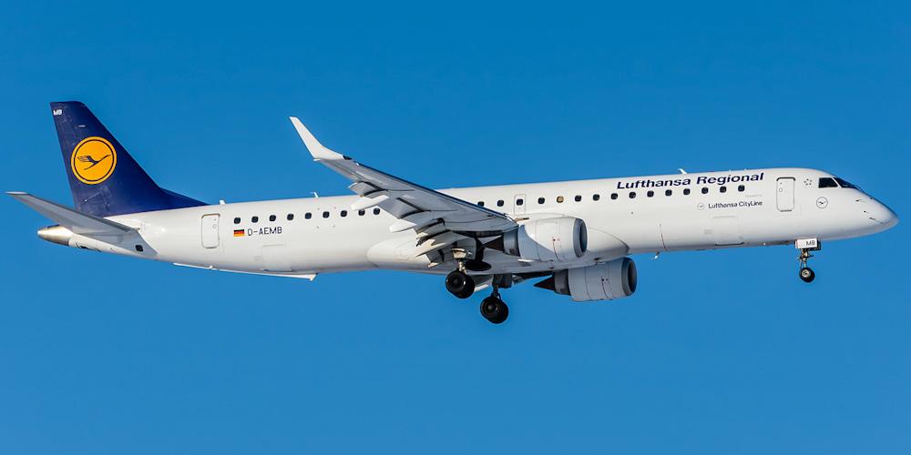 Embraer 195 авиакомпании Lufthansa Cityline