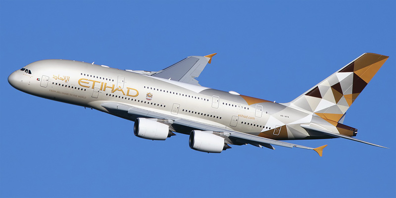 Airbus A380 авиакомпании Etihad Airways
