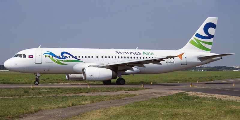 Самолет Airbus A320 авиакомпании Skywings Asia Airlines