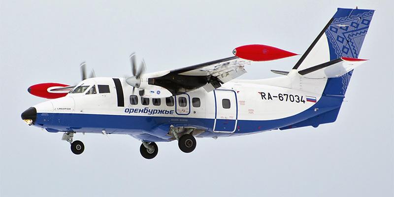 Самолет L-410 авиакомпании Оренбуржье