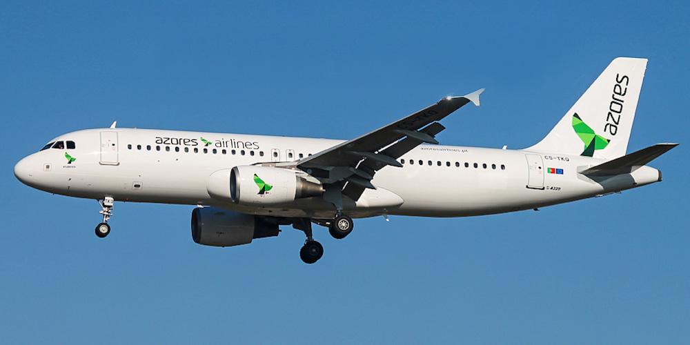 Самолет Airbus A320 авиакомпании Azores Airlines