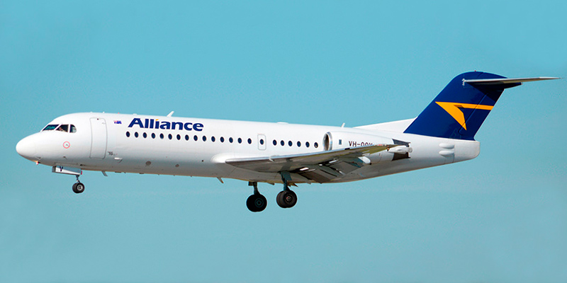 Самолет Fokker 70 авиакомпании Alliance Airlines
