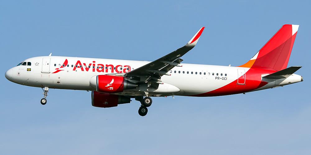 Самолет Airbus A320 авиакомпании Avianca Brasil