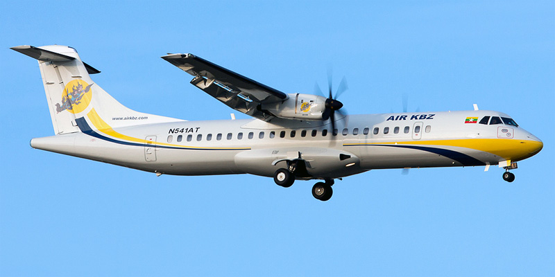 Самолет ATR 72 авиакомпании Air KBZ