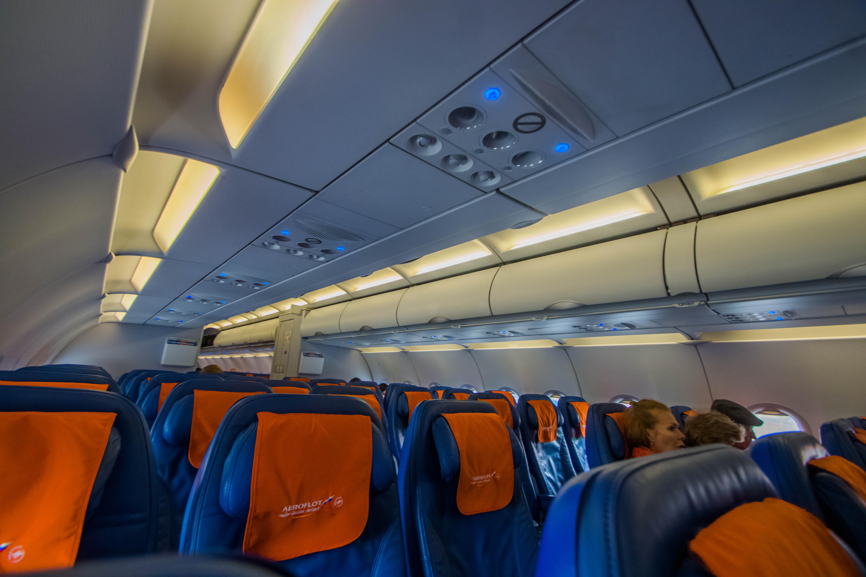 Economy class Airbus A321 Aeroflot