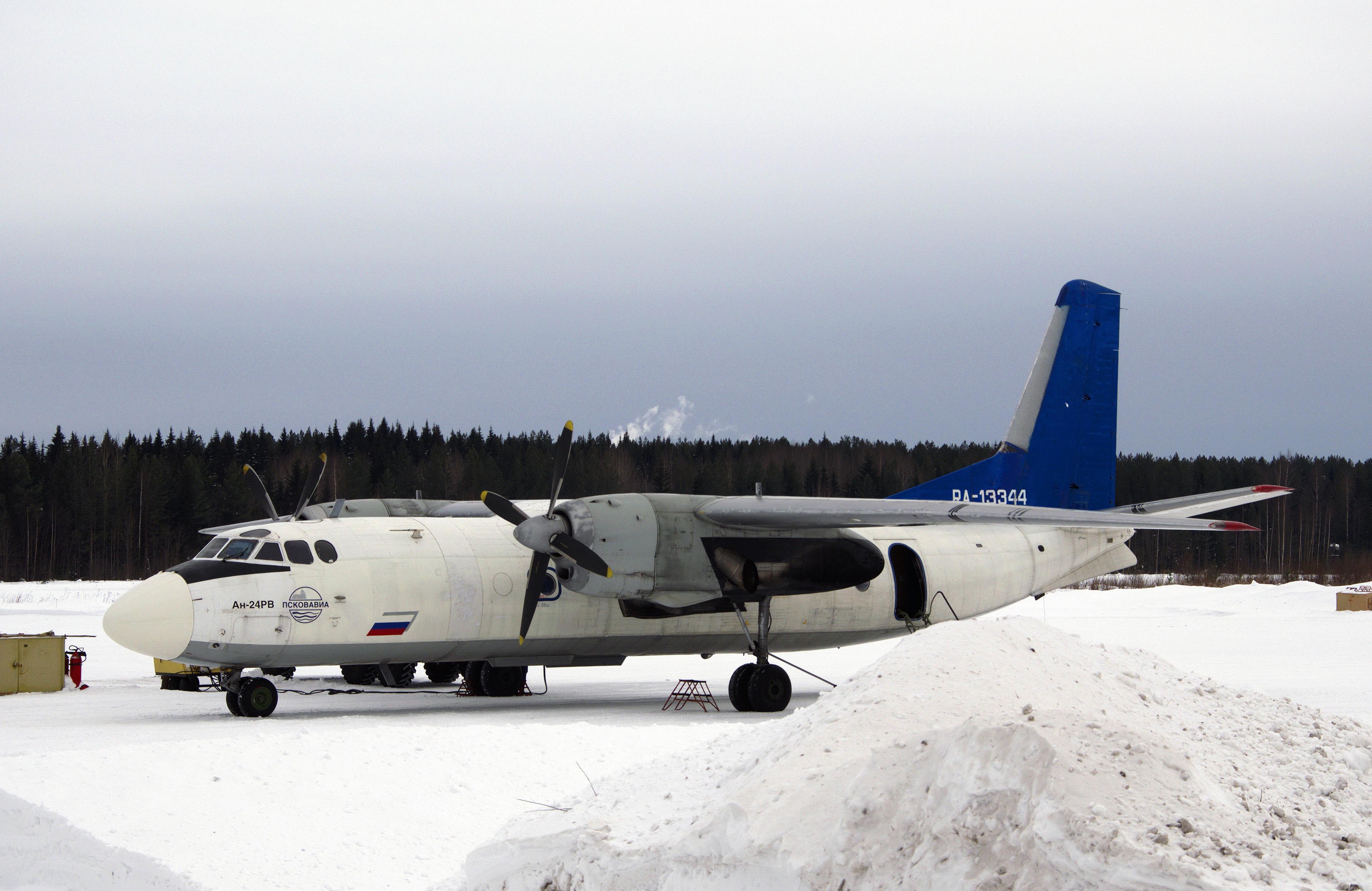 Antonov an-24 RA-13344 airport Kotlas