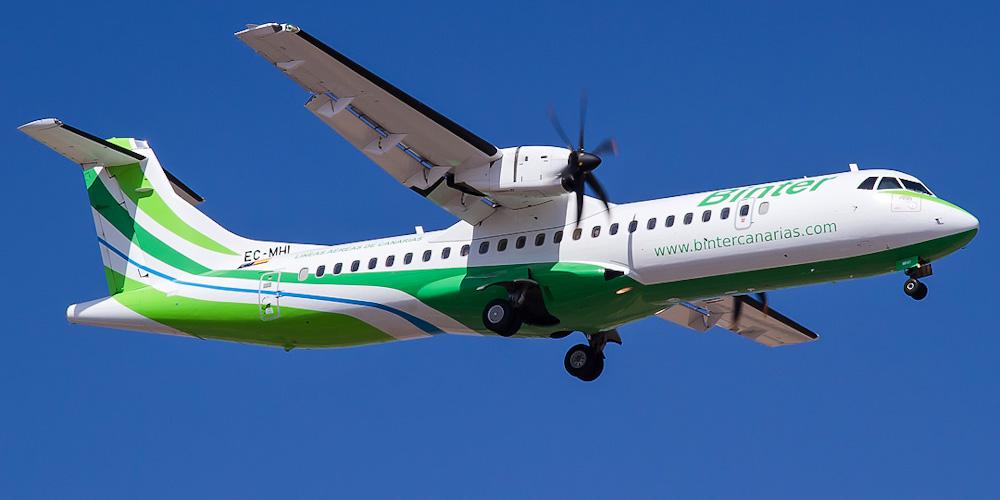 Самолет ATR 72 авиакомпании NAYSA