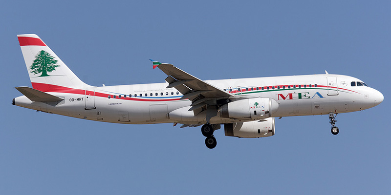 Airbus A320 авиакомпании Middle East Airlines