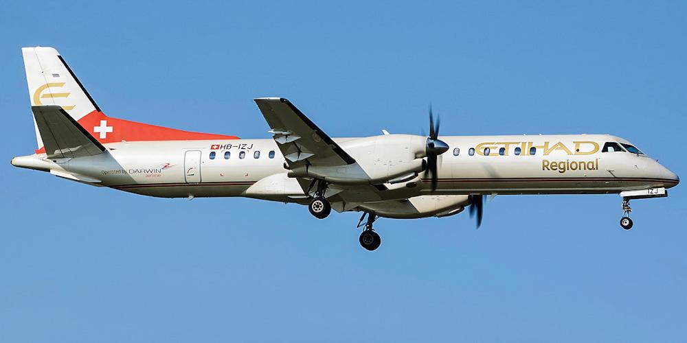 Самолет Saab 2000 авиакомпании Darwin Airline