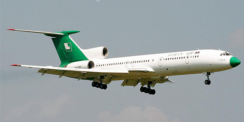 Самолет Ту-154 авиакомпании Turan Air