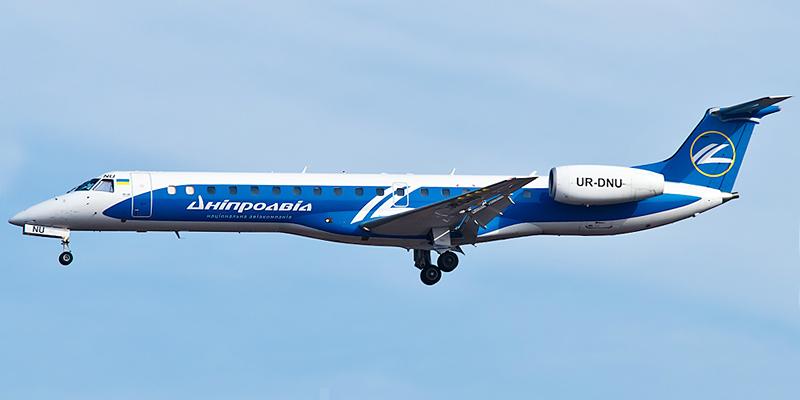Самолет Embraer ERJ145 авиакомпании Днеправиа