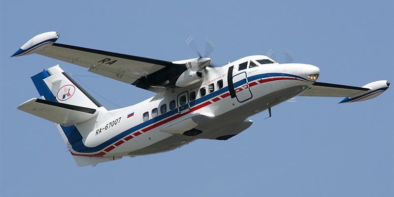 Самолет Л-410 Петропавловск-Камчатского авиапредприятия
