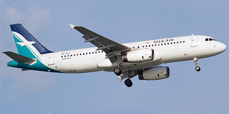 Самолет Airbus A320 авиакомпании Silkair