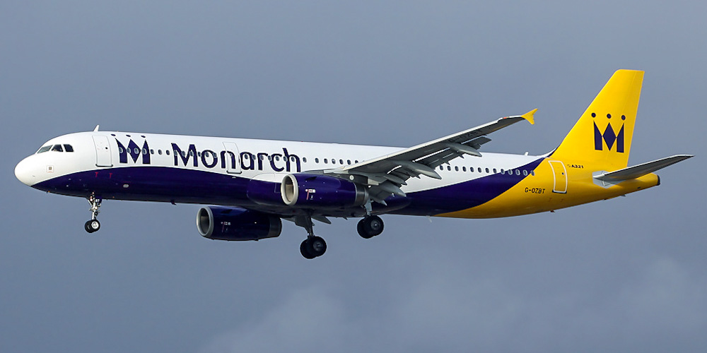 Airbus A321 авиакомпании Monarch Airlines