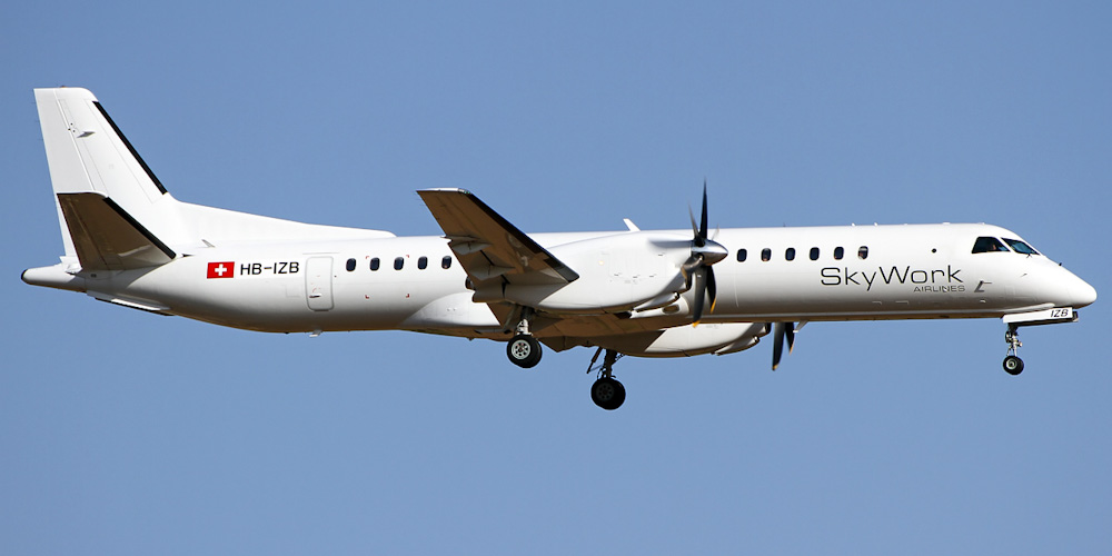 Saab 2000- passenger aircraft. Photos, characteristics, reviews.