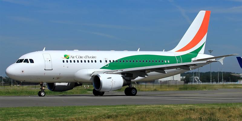 Airbus A320 авиакомпании Air Cote d'Ivoire