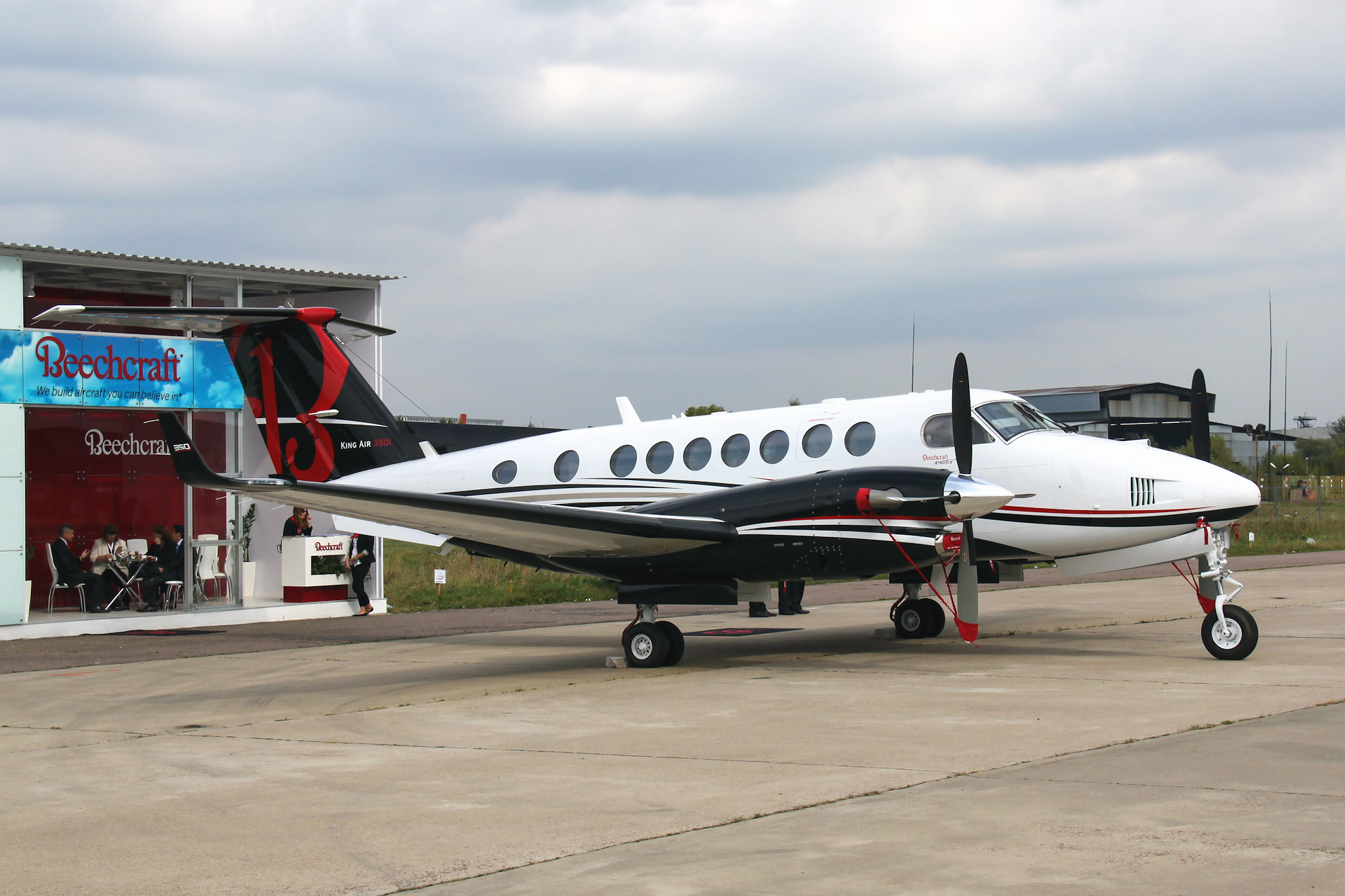 The Beechcraft King Air 350 at the MAKS-2013
