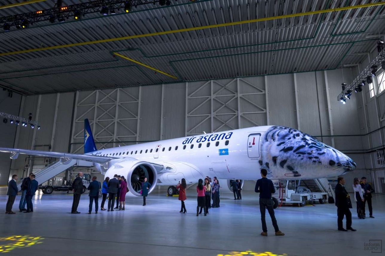 Air Astana received a new Embraer 190-E2