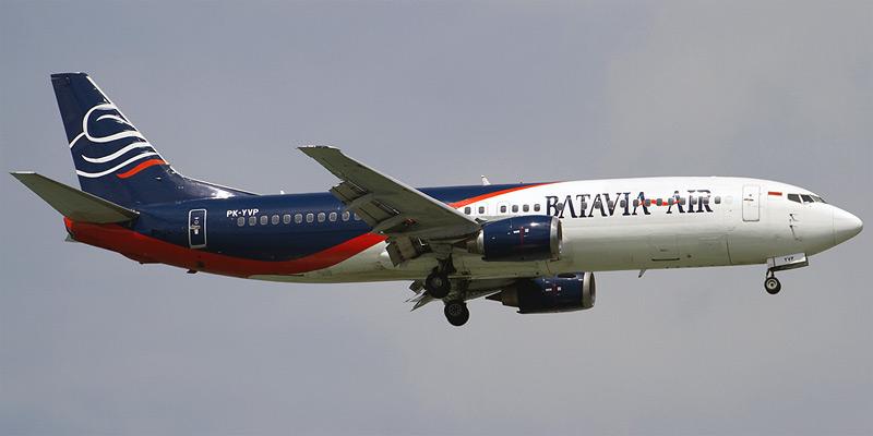 Самолет Боинг-737-400 авиакомпании Батавиа