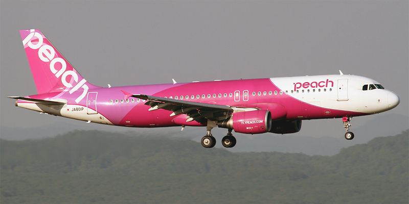 Самолет Airbus A320 авиакомпании Peach