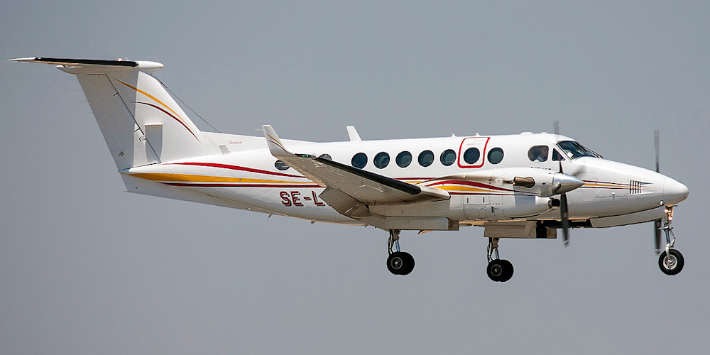 Beechcraft King Air- passenger aircraft. Photos, characteristics, reviews.