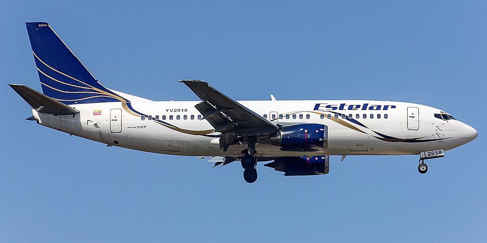 Самолет Боинг-737-300 авиакомпании Estelar