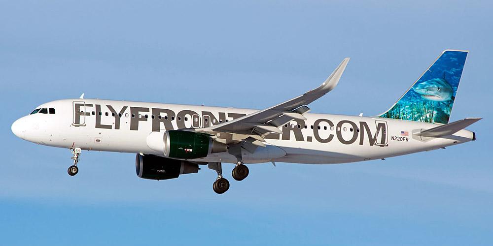 Самолет Airbus A320 авиакомпании Frontier Airlines