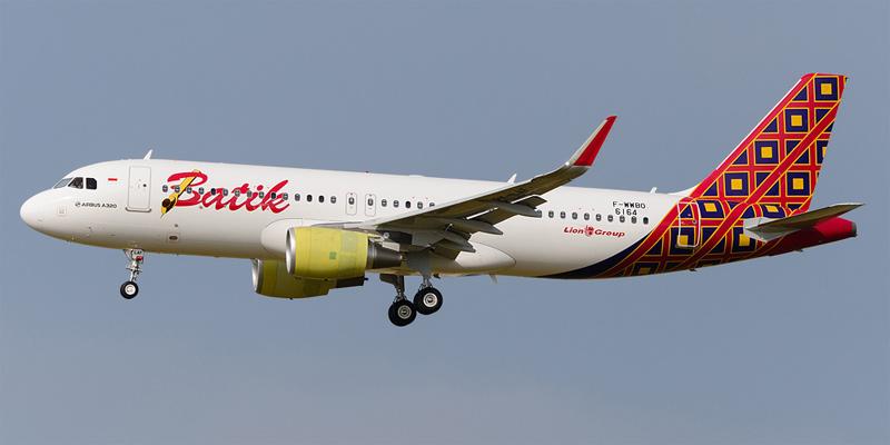 Самолет Airbus A320 авиакомпании Batik Air