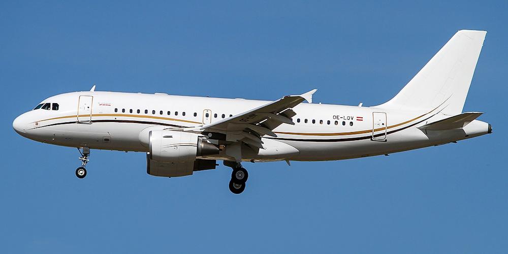 Airbus ACJ авиакомпании Tyrolean Jet Services