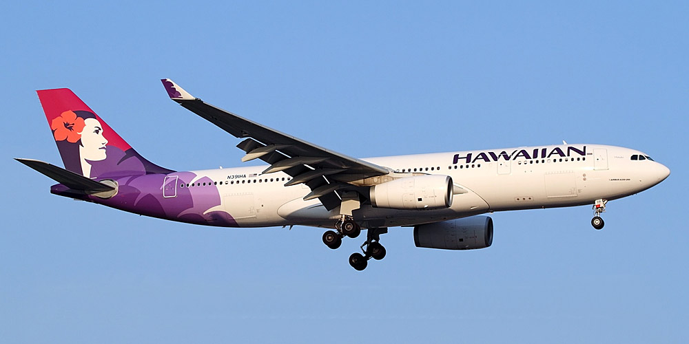 Самолет Airbus A330-200 авиакомпании Hawaiian Airlines